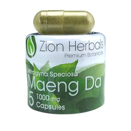 Zion Herbals 5 Cap Maeng Da Jar